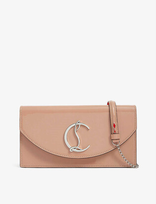 Christian Louboutin Loubi54 patent leather clutch bag