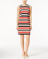 Calvin Klein Petite Sleeveless Striped Sheath