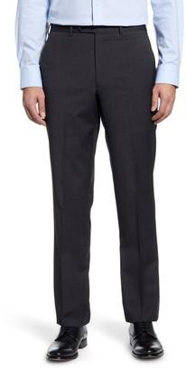 John W. Nordstrom Torino Flat Front Check Wool Dress Pants