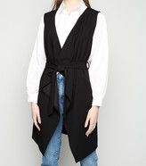 New Look Sleeveless Belted Waterfall Jacket