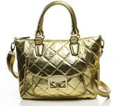 Noble Mount Quilted Metallic Antoinette Satchel/Handbag