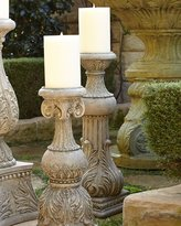 """GG Collection G G Collection 30""""T Cast-Stone Candlestick"""