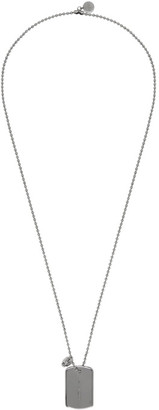 Alexander McQueen Silver Identity Necklace