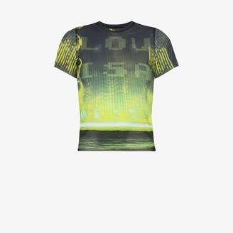 Louisa Ballou printed mesh T-shirt