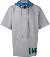 Juun.J short sleeve hoodie - men - Cotton - II