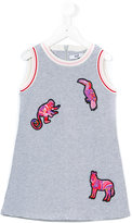MSGM animal appliqué dress - kids - Cotton - 4 yrs