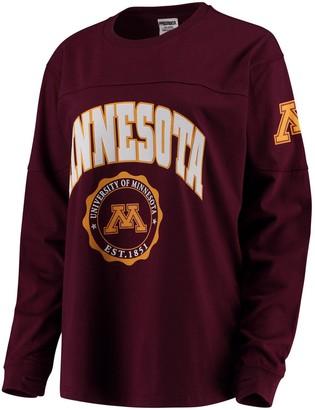 Women's Maroon Minnesota Golden Gophers Edith Long Sleeve T-Shirt