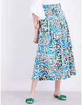 Peter Pilotto Abstract-print cotton culottes