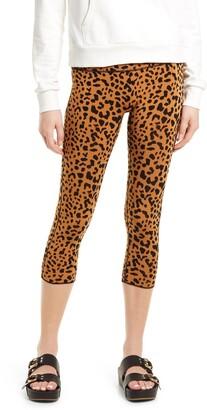 Instinct Leopard Print Reversible Crop Leggings