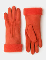 Shearling Gloves Pewter Women Boden