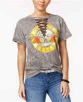 Bravado Juniors' Lace-Up Guns N' Roses Graphic T-Shirt