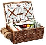 Picnic at Ascot Wicker Picnic Basket Set