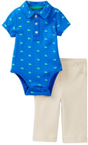 Little Me Whale Icon Polo Pant Set (Baby Boys)