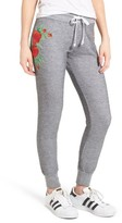 Wildfox Couture Women's Jack - Red Roses Embroidered Jogger Pants