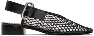 Toga Pulla Black Mesh Ballerina Slippers