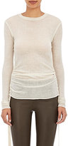 Helmut Lang Women's Ruched Sides Sweater-IVORY, WHITE