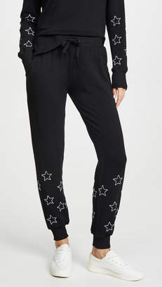 Chrldr Stitched Stars Flat Pocket Sweatpants