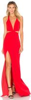Michelle Mason x REVOLVE Cut Out Plunge Gown