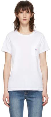 MAISON KITSUNÉ White Tricolor Fox Pocket T-Shirt