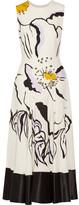 Roksanda Camillo Printed Silk-crepe Midi Dress - UK10