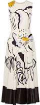 Roksanda Camillo Printed Silk-crepe Midi Dress - White