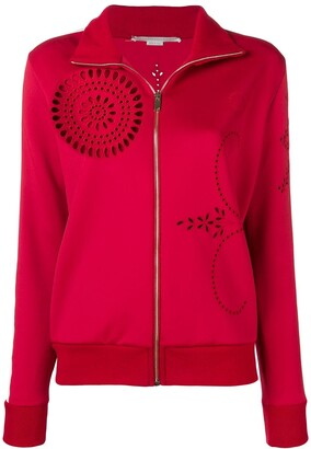Stella McCartney broderie detail zipped track jacket