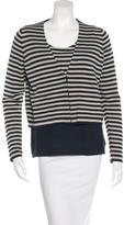 Akris Punto Stripe Wool Cardigan Set