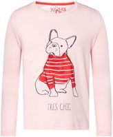 Joules Girls Puppy Print Long Sleeve T-Shirt