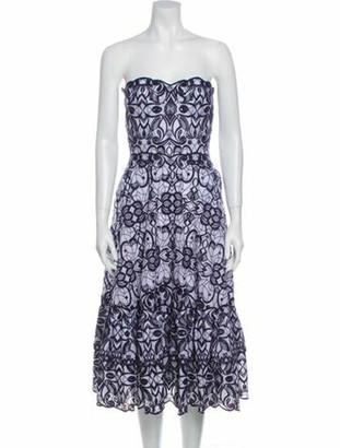 Jonathan Simkhai Printed Knee-Length Dress Blue