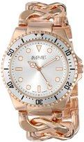August Steiner Women's AS8079RG Rose-Tone Watch with Twist-Chain Bracelet