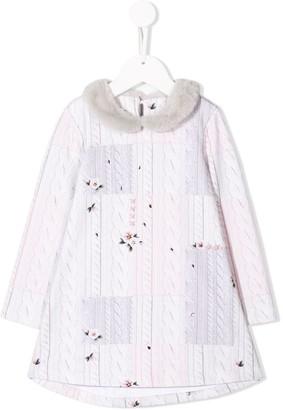 Lapin House Knit Print Dress