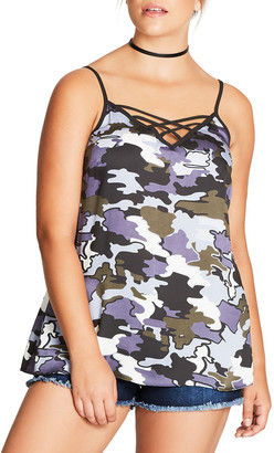 City Chic Bon Fire Camisole