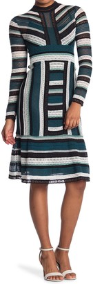 M Missoni Long Sleeve Lace Midi Dress