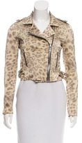 Alexis Leopard Print Biker Jacket