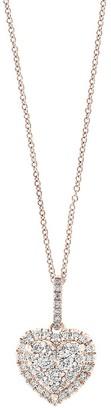 Effy 14K Rose Gold Diamond Pendant Necklace
