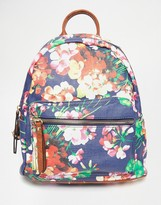 Liquorish Floral Print Backpack