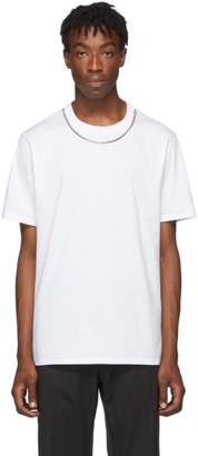 Neil Barrett White Travel Jersey Necklace T-Shirt