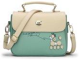 MEbox Womens Childlike Puppy Detail Handbag Flap Shoulder Bag