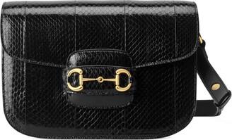 Gucci 1955 Horsebit snakeskin shoulder bag