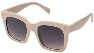 San Diego Hat Company BSG1085 Square Solid Frame Sunglass with Grey Tint Lense 100% UVA/P Protection (Beige) Fashion Sunglasses