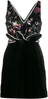 Self-Portrait Midnight Bloom sequin mini dress