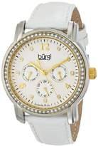Burgi Women's BUR083YGW Analog Display Japanese Quartz White Watch