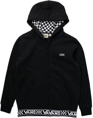 Vans Ribbed Check Zip Hoodie
