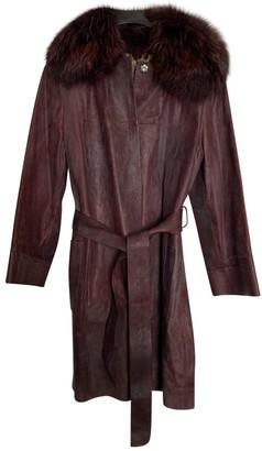 Dolce & Gabbana Burgundy Fur Coat for Women