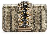 Sondra Roberts Embellished Snakeskin-Embossed Clutch