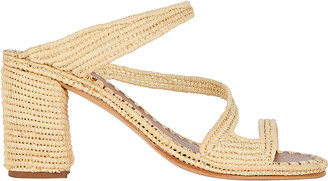 Carrie Forbes Salah Raffia Slide Sandals