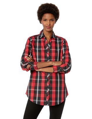 Foxcroft Women's Faith Mackenzie Tartan Plaid Tunic