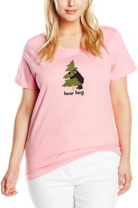 Hatley Women's Jersey Tee-Book Animals Bear Hug Pyjama Top