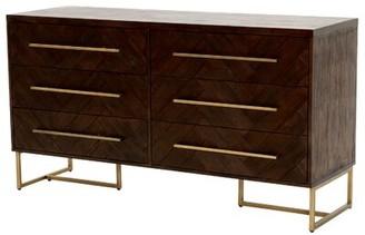 Three Posts Derwent 6 Drawer Double Dresser Color: Rustic Java