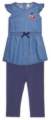 Petit Lem Baby Girl's 2-Piece Blouson Dress Leggings Set